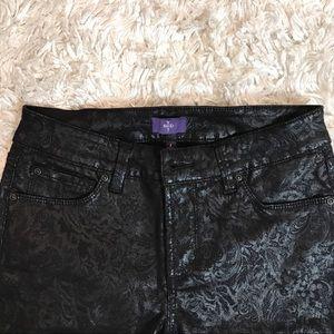 NYDJ | Skinny Black Ornate Paisley Print Jeans